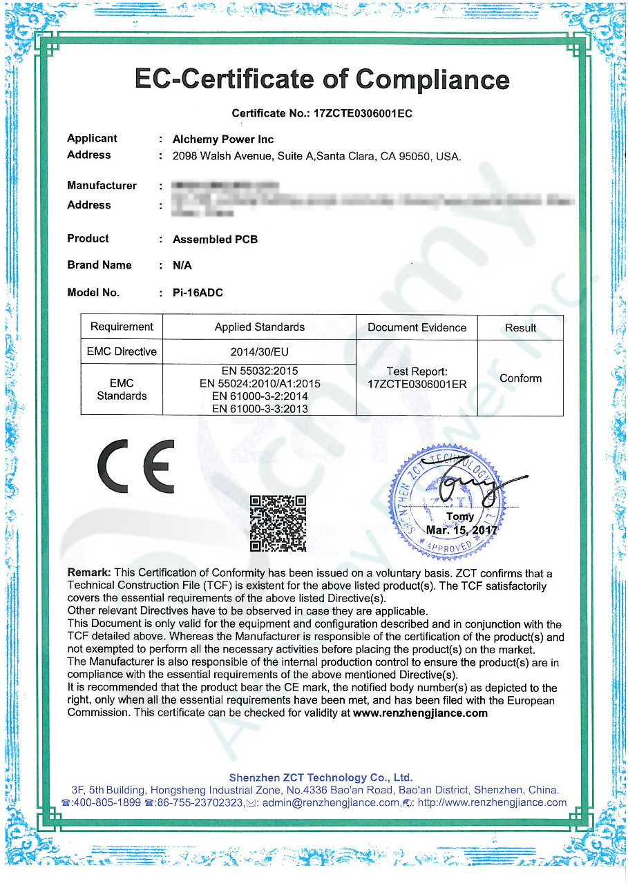 Downloads alchemy power inc pi 16adc ce certificate ce compliance certification 1betcityfo Choice Image