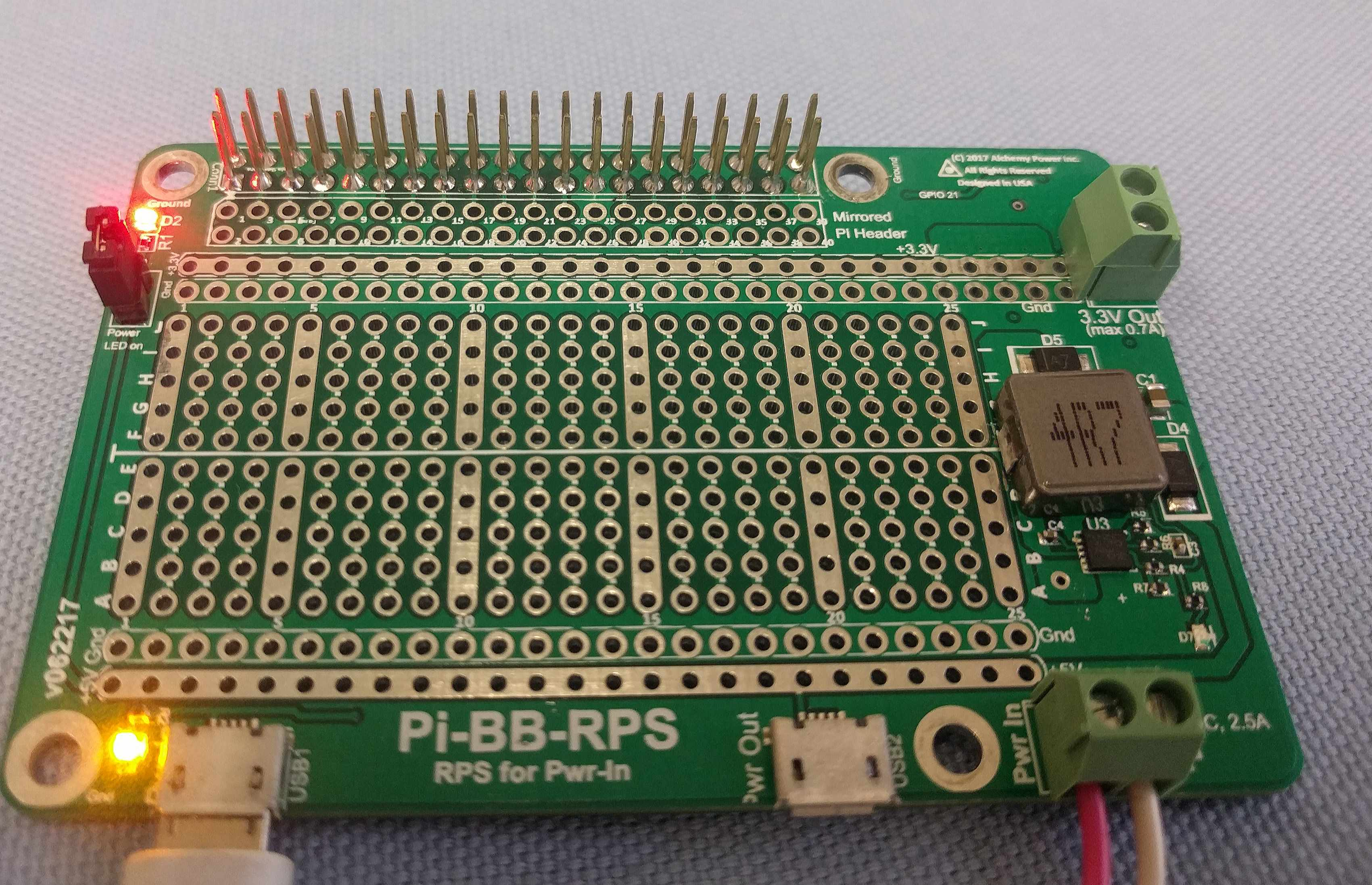 Pi Bb Rps Breadboard With Redundant Power Supply Alchemy Inc Usb Schematic On 2 Off